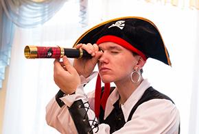 Заказать пирата на Детский день рождения