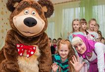 Аниматоры Маша и Медведь на выпускной в детский сад
